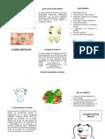 Triptico Caries Dentales