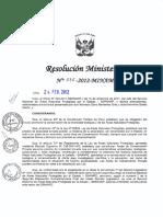 Resolución Ministerial 035-2012-MINAM