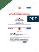PLSQL New Features Best Practices