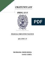 Financial Derivatives Taxation Cubeta