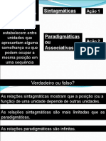 Sintagma e Paradigma