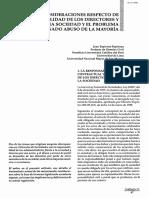 Algunas consideraciones respecto de las responsabilidad de los directores y gerentes de una sociedad y el problema del denominado abuso de la mayoría - Juan Espinoza Espinoza.pdf