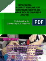 Implicatia Enterobacteriilor Cu Patogenitate Certa