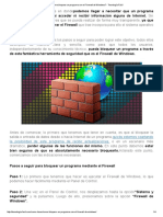 ¿Cómo Bloquear Un Programa Con El Firewall de Windows_ - Tecnología Fácil