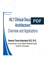 Hl7cda-Overview and Applications