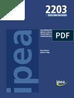 Aglomerações Urbanas _IPEA