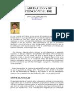 El Aguinaldo y Su Retencion Del ISR