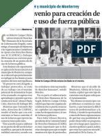 22-07-16 Firman convenio para creación de protocolo de uso de fuerza pública