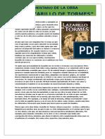 7mi Comentrio Del Lazarrilo de Tormes