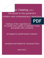 Catalogo de Guitarra Pocci April 2013