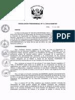 Resolución Presidencial N° 068-2016-OSINFOR