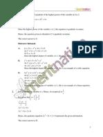 Gr 10 Math Test 2 Solution