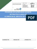Programa de Supervisión Docente de Práctica Clínica de Alumnos en El Servicio de Urgencia 2016 Mariela