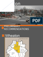 Wheaton Preliminary Recommendations