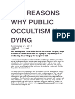 TEN REASONS WHY PUBLIC OCCULTISM IS DYING.docx
