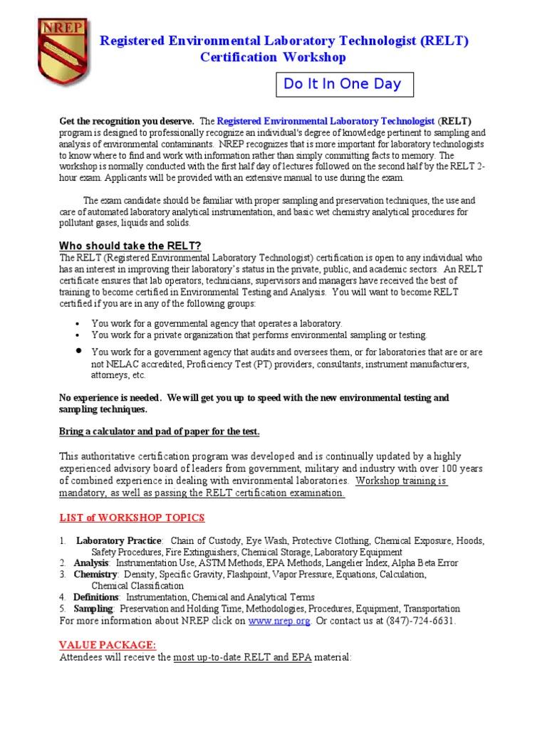 Reltworkshops July Oct2010 Laboratories Test Assessment