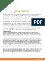 Principles of Pet Food Palatability