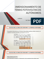 Dimensionamiento de Sistemas Fotovoltaicos