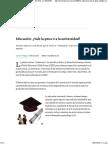 Educación_ ¿Vale La Pena Ir a La Universidad_