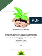 Proyecto Pedagogico Productivo Intecavi