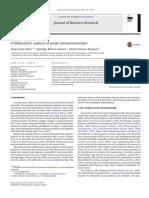 A Bibliometric Analysis of Social Entrepreneurship