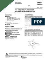 Ina337 Wide-temperature, Precision Instrumentation Amplifier