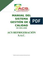 Manual de Calidad empresa Acs