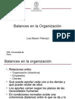 Balances en La Organizacion