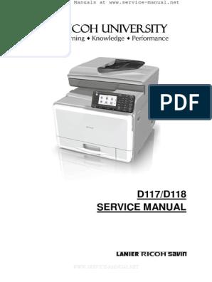 Aficio MPC305SP, MPC305SPF Service Manual   Switch   Electrical