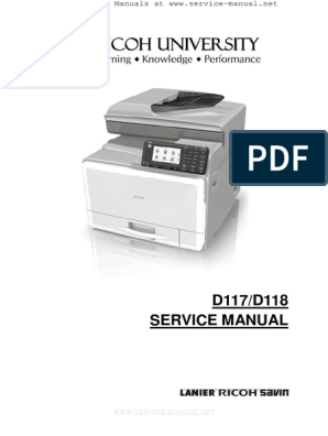 Aficio MPC305SP, MPC305SPF Service Manual | Switch