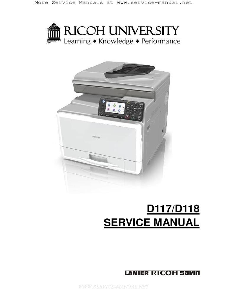 aficio mpc305sp mpc305spf service manual switch electrical rh scribd com ricoh mp c5000 manual ricoh aficio mp c5000 manual
