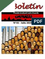Boletín Compañero N° 10 Julio/2016