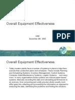 Operational Equipment Excelence Presentation