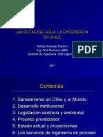 Las Rutas Del Agua - Experiencia en Chile - Marzo 2007 Panam