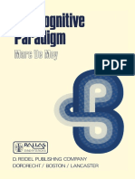 Marc de Mey (Auth.)-The Cognitive Paradigm_ Cognitive Science, A Newly Explored Approach to the Study of Cognition Applied in an Analysis of Science and Scient