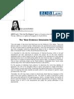 74.BM.the Best Evidence Obtainable Rule.01.15.09