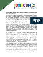 Sistematizacion  CONIECOM 2016