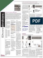 Dominion KX-Quick Setup Guide Version 1.4-0F-E