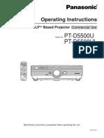 Panasonic Projector Manual