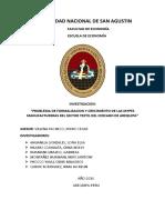 """I""""PROBLEMA DE FORMALIZACION Y CRECIMIENTO DE LAS MYPES MANUFACTURERAS DEL SECTOR TEXTIL DEL CERCADO DE AREQUIPA"""""""