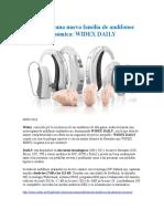 Widex Daily - nuevos audífonos
