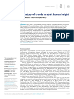 A century of trends in adult human height