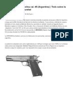 Pistola Ballester Molina Calibre .45 ACP