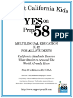 Support California Kids YES on Prop 58