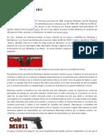Armas CR - La Historia de La Pistola Colt 1911