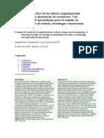 Revista - Análisis prospectivo de la cultura organizacional utilizando la planeación de escenarios.doc