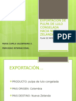 Exportacion de Pulpa de Lulo