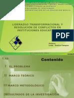 LIDERAZGO TRANSFORMACIONAL Y RESOLUCIÓN DE CONFLICTOS EN INSTITUCIONES EDUCATIVAS DE LA PARROQUIA LIBERTAD