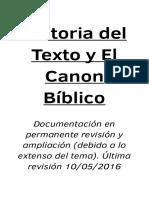 Historia Del Cánon Bíblico