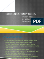 Communication Process Ballesteros